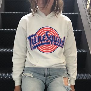"Vintage Space Jam ""TuneSquad"" hoodie."
